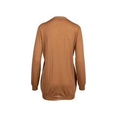 Prada light brown long wool cardigan 2?1545906869