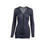 Authentic Second Hand Prada Grey Silk Ribbed Cardigan (PSS-051-00458) - Thumbnail 0