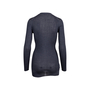 Authentic Second Hand Prada Grey Silk Ribbed Cardigan (PSS-051-00458) - Thumbnail 1
