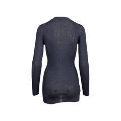 Prada grey silk ribbed cardigan 2?1545906895