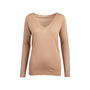 Authentic Second Hand Prada Camel Wool Silk Blend Sweater (PSS-051-00460) - Thumbnail 0