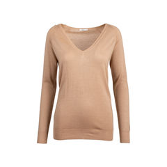 Camel Wool Silk Blend Sweater