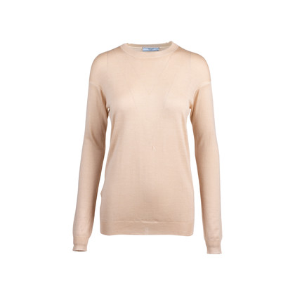 Authentic Pre Owned Prada Nude Round Neck Wool Blend Sweater (PSS-051-00461)