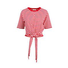 Stripe Tie Wrap Top