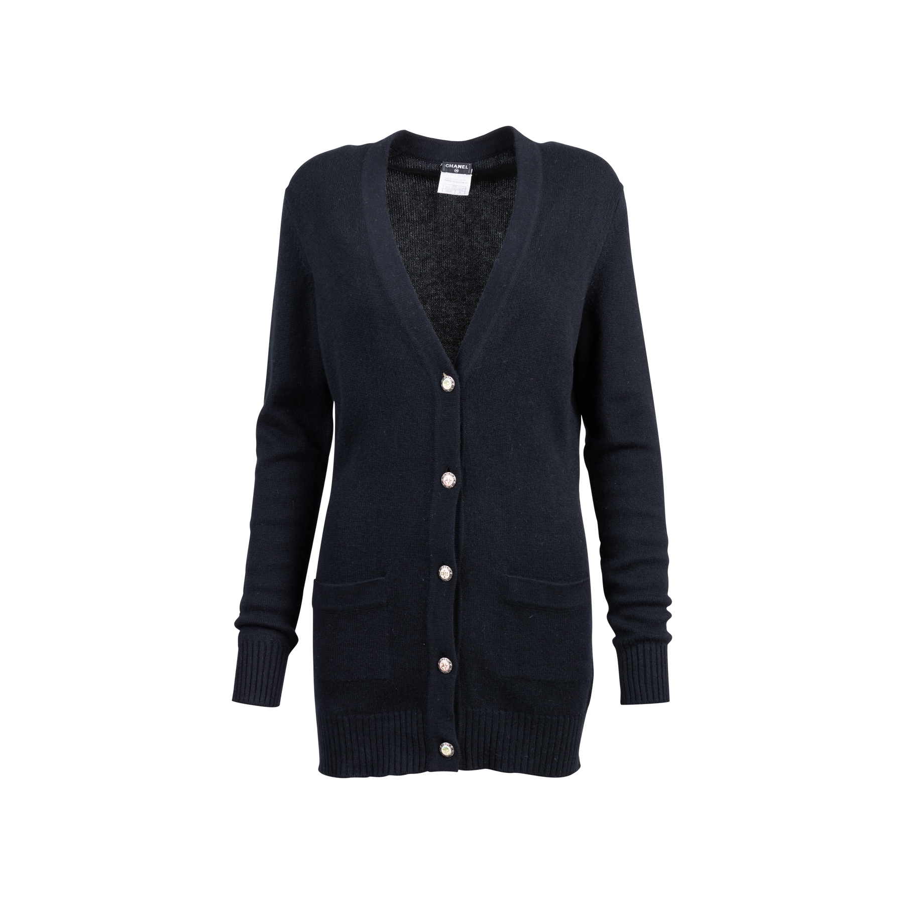 3670180358c045 Authentic Second Hand Chanel Long Cashmere Cardigan (PSS-051-00478) - THE  FIFTH COLLECTION