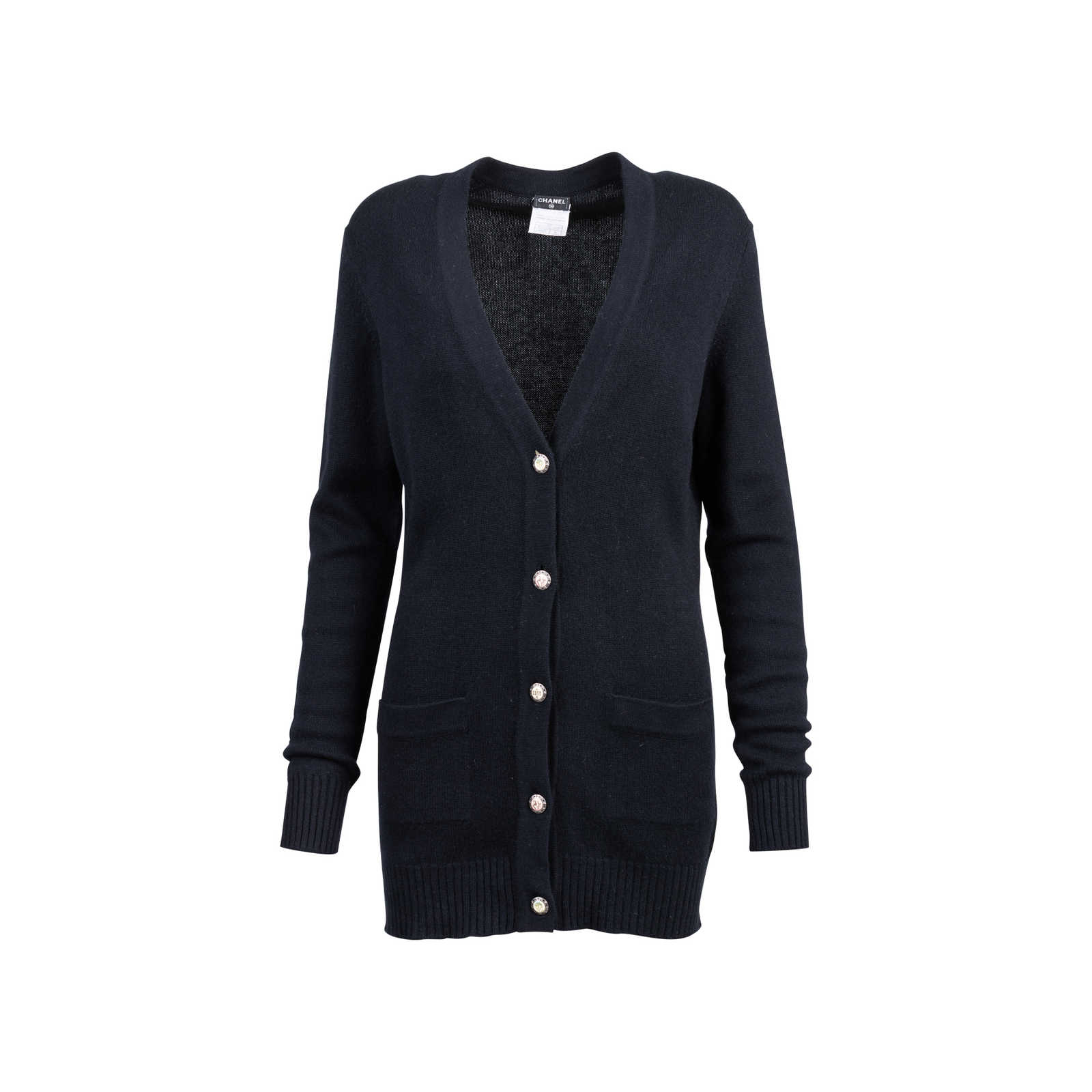 14a62a54bfe3e Authentic Second Hand Chanel Long Cashmere Cardigan (PSS-051-00478) -  Thumbnail ...