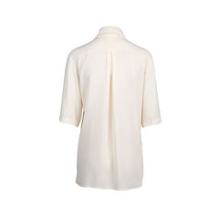 Chanel crepe silk button blouse 2?1545907209