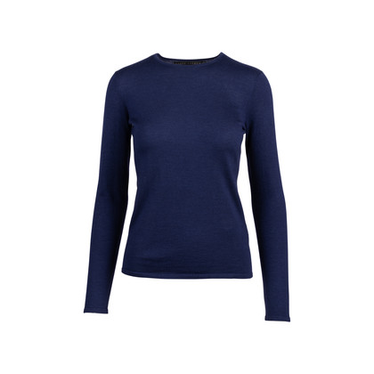 Authentic Second Hand Ralph Lauren Navy Cashmere Silk Sweater (PSS-051-00483)