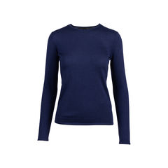 Navy Cashmere Silk Sweater