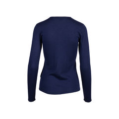 Ralph lauren navy cashmere silk sweater 2?1545907264