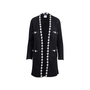 Authentic Second Hand Chanel Houndstooth Knit Open Long Cardigan (PSS-051-00484) - Thumbnail 0