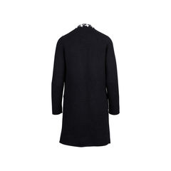 Chanel houndstooh knit open long cardigan 2?1545907290