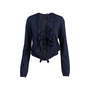 Authentic Second Hand Lanvin Ruffle Front Wool Cardigan (PSS-051-00486) - Thumbnail 0