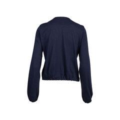 Lanvin ruffle front wool cardigan 2?1545907317