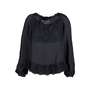 Authentic Pre Owned Prada Lace Silk Tie Front Blouse (PSS-051-00433) - Thumbnail 0