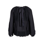 Authentic Second Hand Prada Lace Silk Tie Front Blouse (PSS-051-00433) - Thumbnail 1