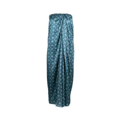 Authentic Second Hand Biyan Satin Trumtum Print Skirt (PSS-051-00445)