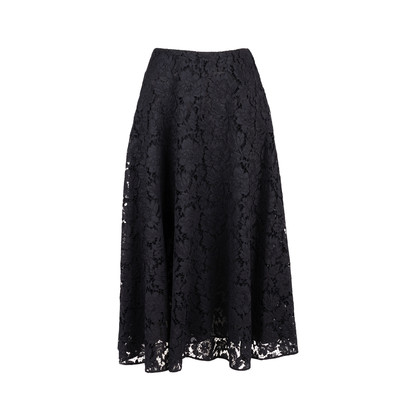 Authentic Second Hand Valentino Full Heavy Lace Skirt (PSS-051-00441)