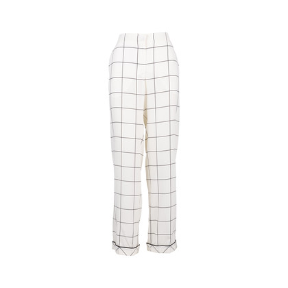 Authentic Second Hand Valentino Windowpane Silk Trousers (PSS-051-00465)
