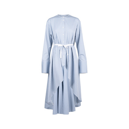 Authentic Second Hand Palmer//Harding Waterfall Hem Cotton Shirt (PSS-051-00463)