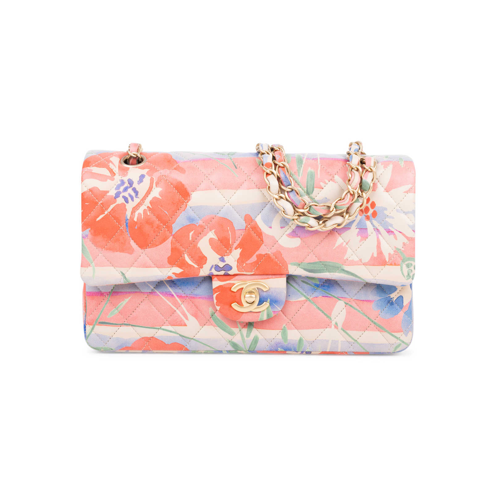 251eb7435152 Authentic Second Hand Chanel Floral Medium Classic Flap Bag (PSS-600-00007)  ...