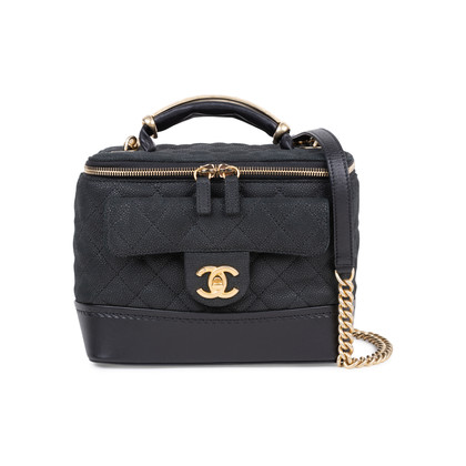 Authentic Pre Owned Chanel Globe Trotter Vanity Case (PSS-600-00006)