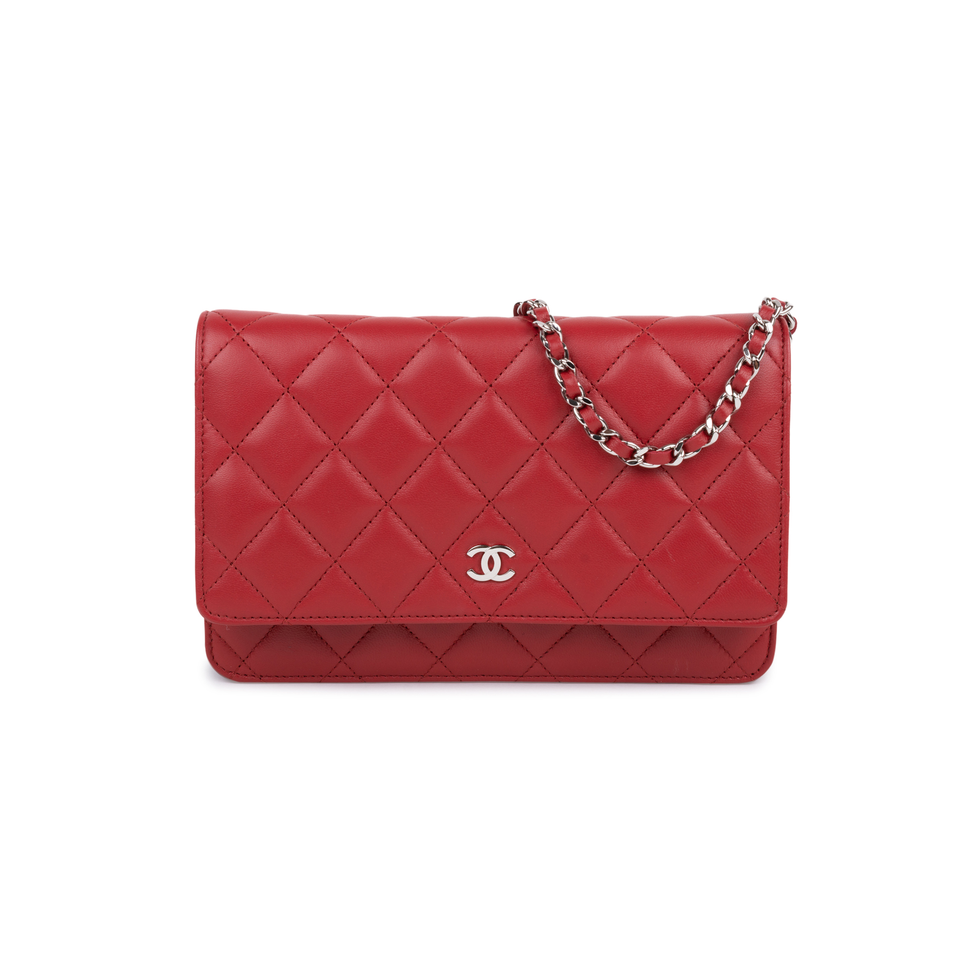 Authentic Pre Owned Chanel Classic Wallet on Chain (PSS-600-00008)   THE  FIFTH COLLECTION® 6937777f8c4