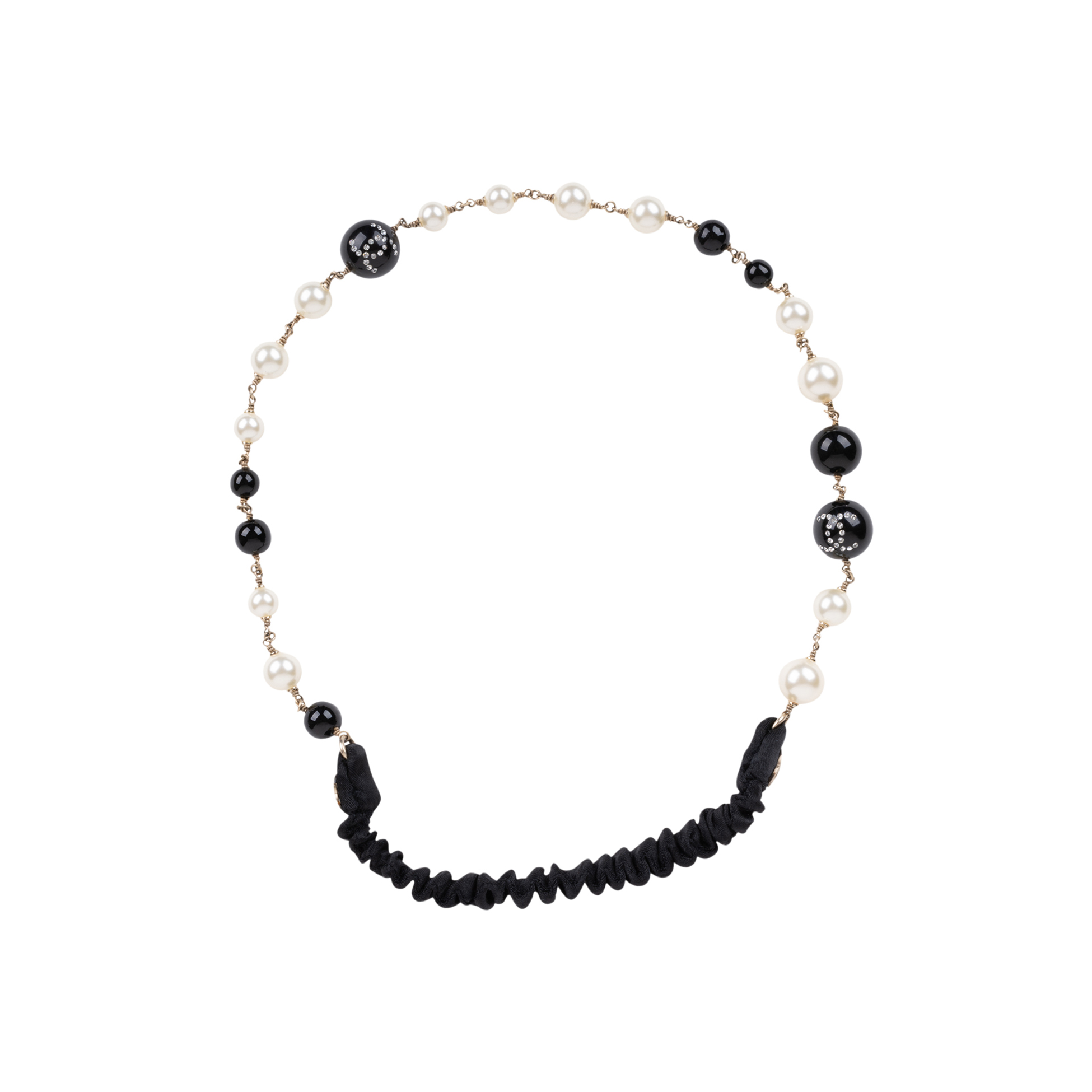 Authentic Pre Owned Chanel Faux Pearl and Beads Headband (PSS-600-00009)  1e39559be8d