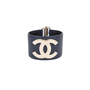 Authentic Pre Owned Chanel CC Leather Cuff Bracelet (PSS-595-00002) - Thumbnail 0