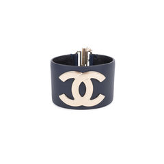 CC Leather Cuff Bracelet