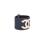 Authentic Pre Owned Chanel CC Leather Cuff Bracelet (PSS-595-00002) - Thumbnail 1