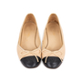 Authentic Pre Owned Chanel Two Toned Ballerines (PSS-595-00008) - Thumbnail 0