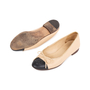 Authentic Pre Owned Chanel Two Toned Ballerines (PSS-595-00008) - Thumbnail 1