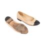 Authentic Pre Owned Chanel Two Toned Ballerines (PSS-595-00008) - Thumbnail 2