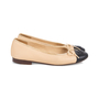 Authentic Pre Owned Chanel Two Toned Ballerines (PSS-595-00008) - Thumbnail 4