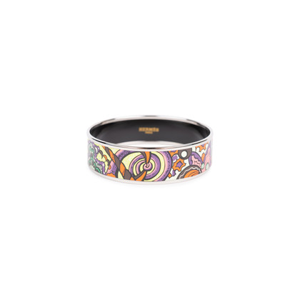Authentic Second Hand Hermès Abstract Enamel Bangle (PSS-595-00003)