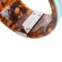 Authentic Second Hand Fendi Tortoiseshell Fendi Logo Bangle (PSS-595-00007) - Thumbnail 6