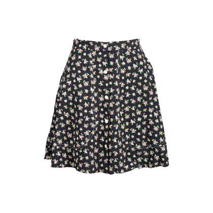 Authentic Pre Owned Carven Floral Buttoned Down Skirt (PSS-110-00036)