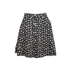 Floral Buttoned Down Skirt