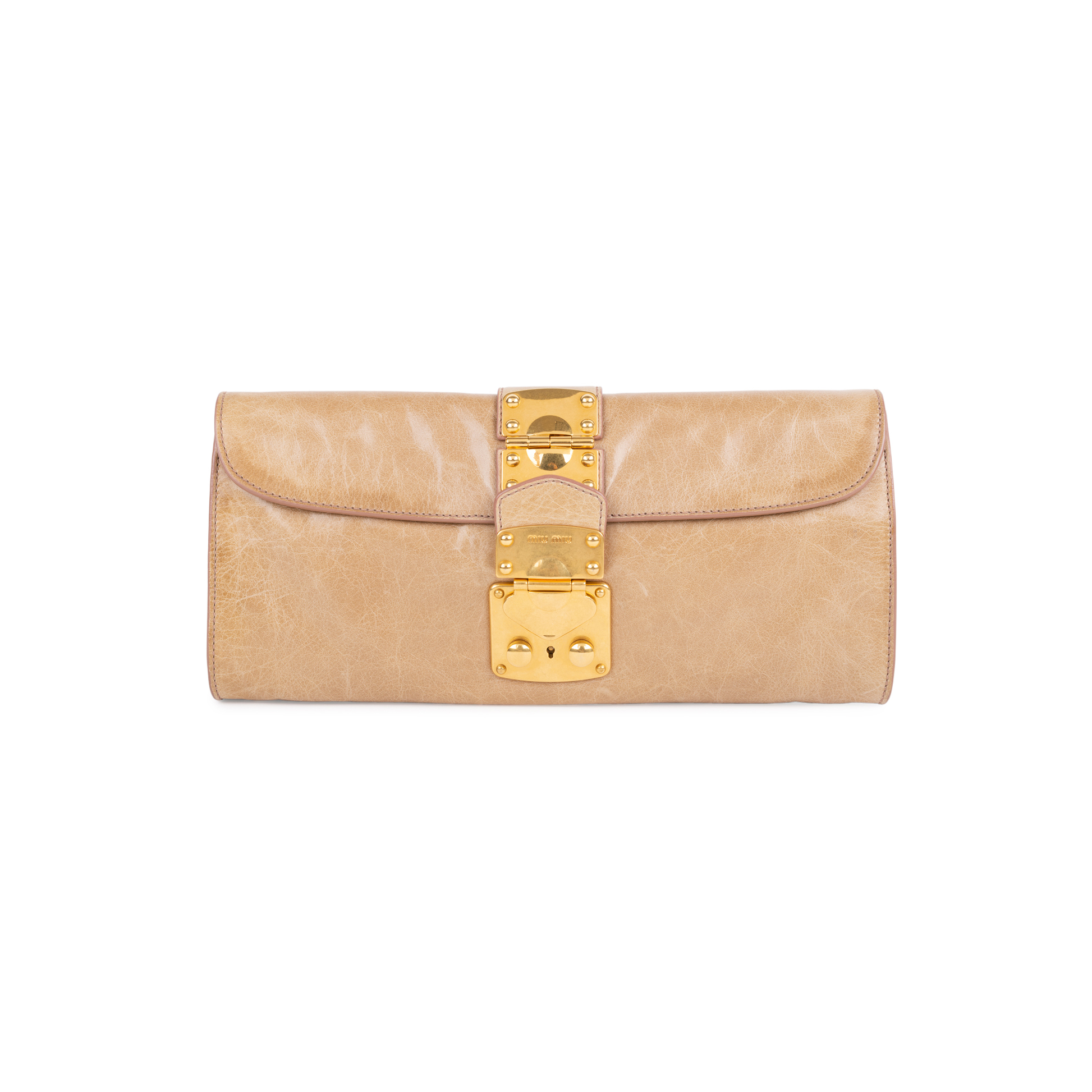 6d82776ceb4a Authentic Second Hand Miu Miu Vitello Lux Cammeo Pochette (PSS-110-00041)