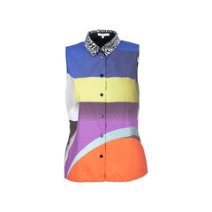 Colourblock Sleeveless Shirt
