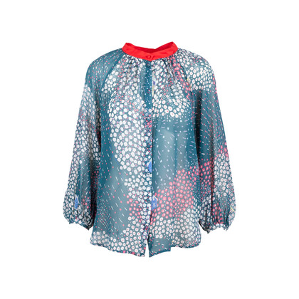 Authentic Second Hand Tsumori Chisato Printed Silk Top (PSS-247-00091)