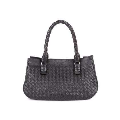 Authentic Pre Owned Bottega Veneta Embossed Intrecciato Leather Tote Bag (PSS-594-00003)