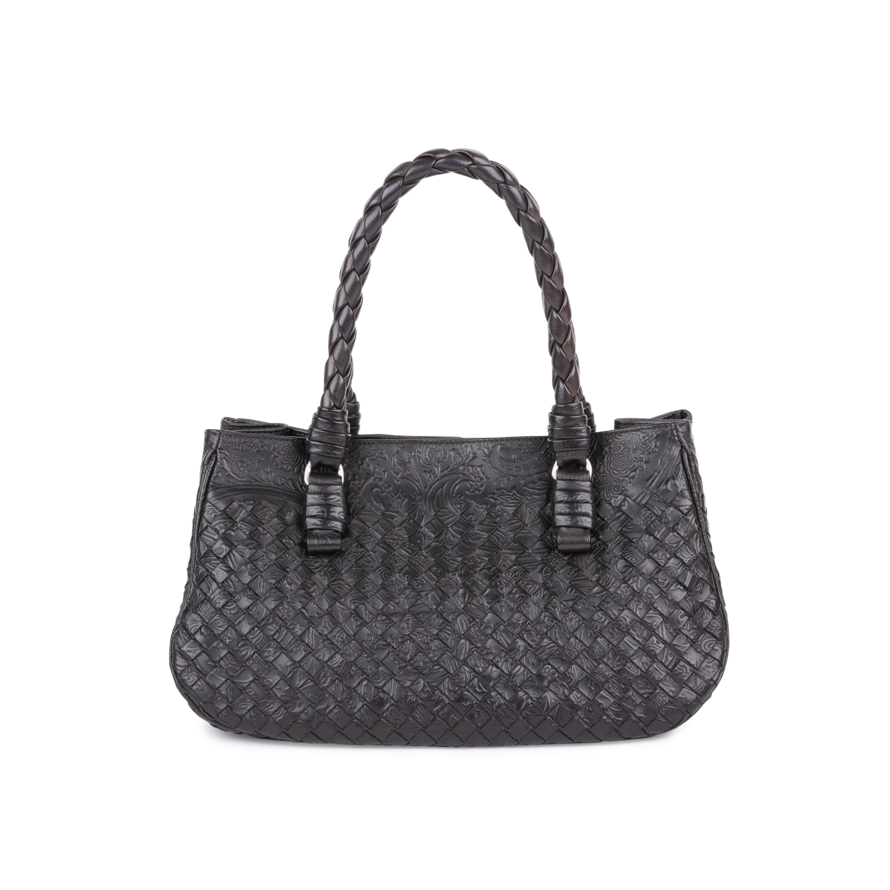 7316595d17d6 Authentic Second Hand Bottega Veneta Embossed Intrecciato Leather Tote Bag  (PSS-594-00003) | THE FIFTH COLLECTION