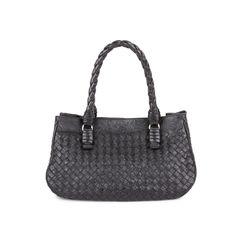 Embossed Intrecciato Leather Tote Bag