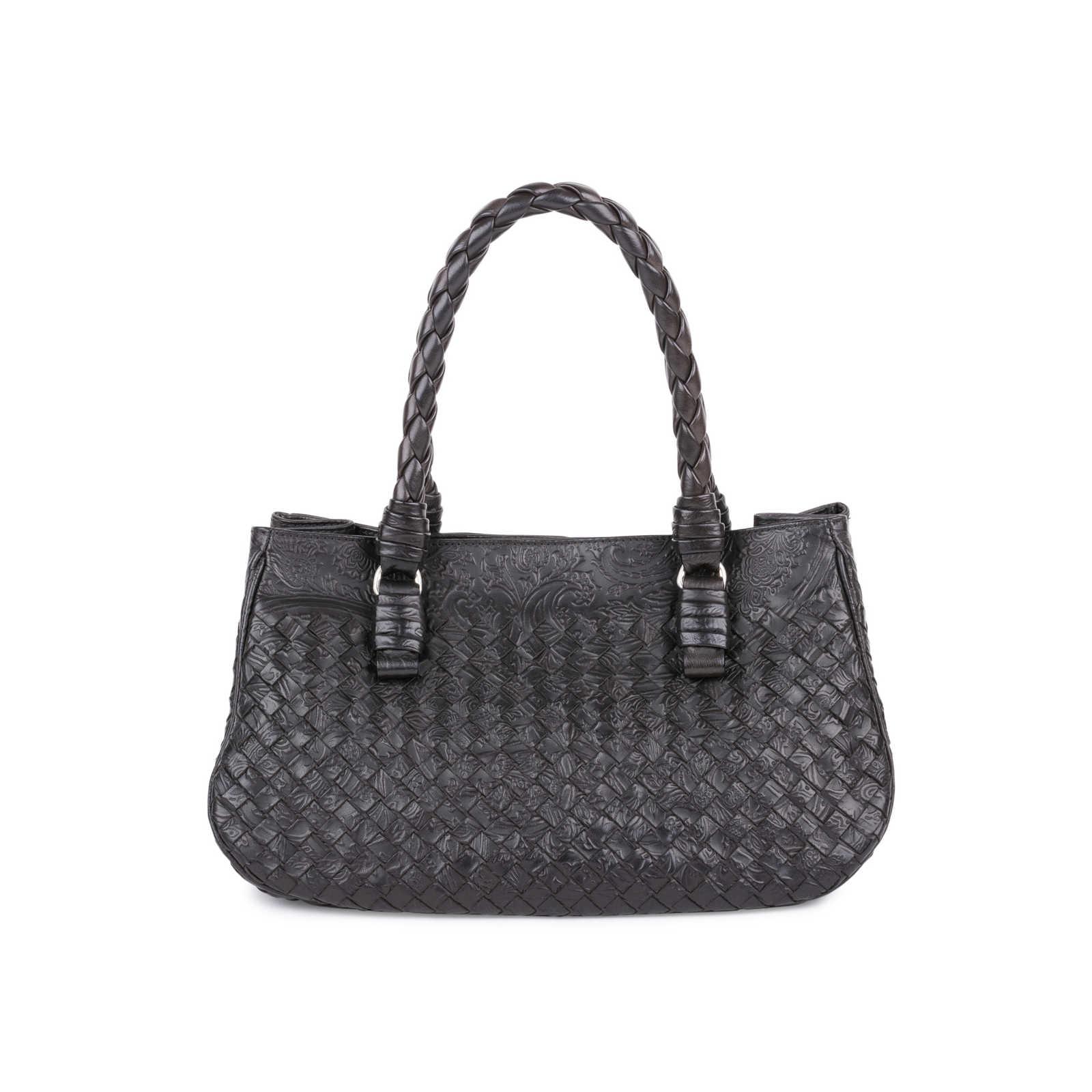 14c3cd7056e Authentic Pre Owned Bottega Veneta Embossed Intrecciato Leather Tote Bag  (PSS-594-00003 ...