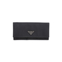 Authentic Second Hand Prada Foglio Tessuto Long Wallet (PSS-594-00005) - Thumbnail 0