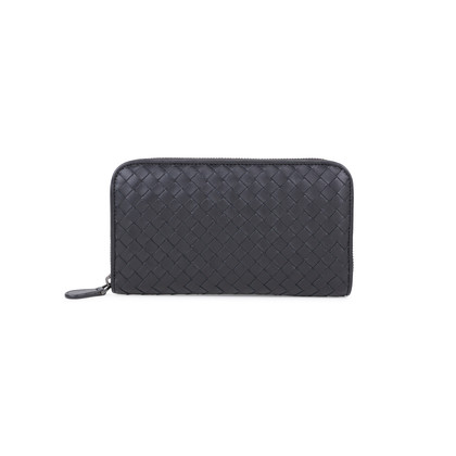 Authentic Second Hand Bottega Veneta Intrecciato Zip Around Wallet (PSS-594-00008)