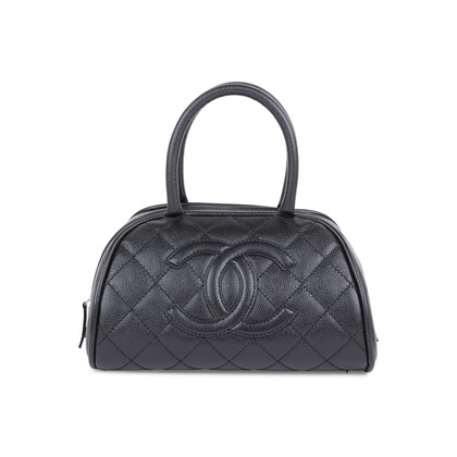 Authentic Pre Owned Chanel Quilted Caviar Bowler Tote Bag (PSS-594-00009)
