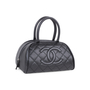Authentic Second Hand Chanel Quilted Caviar Bowler Tote Bag (PSS-594-00009) - Thumbnail 1